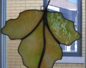 Stained Glass Autumn Maple Leaf Suncatcher