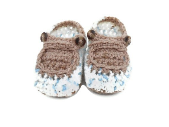 Baby Booties Crocheted Soft Shoes