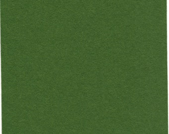 Pure Wool Felt Sheet - Dark Leaf Green - Half Metre / Quarter Metre - EN71