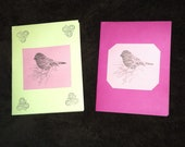 2 Handmade Bird Cards w/ 2 envelops- RESERVED for a Trade