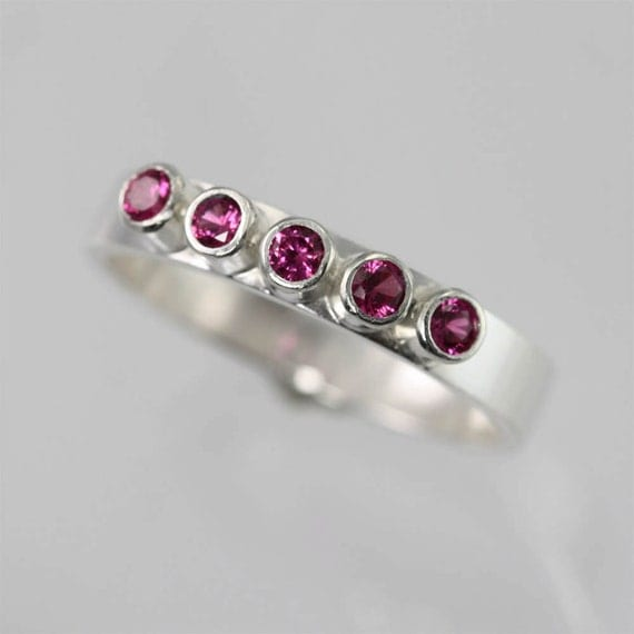 5 Stone Ring (Ruby) Made to Order