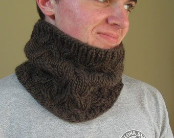 Cowl Neckwarmer - Knitting Pattern PDF- Sand Pond Neck Wrap - great gift - unisex cozy - very easy knitting pattern for bulky yarn