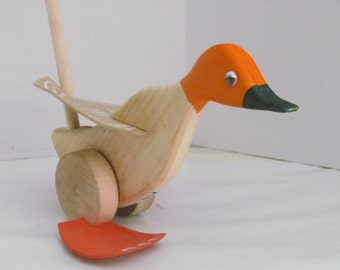 Wooden Duck Toy Etsy