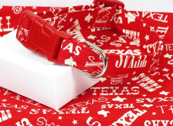 Texas Our Texas Dog Collar, Choose Your Size