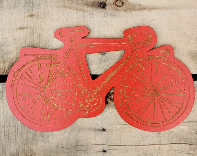 gift for bicycle lovers  -  bike wall hanging  -  under 20 dollar gift