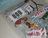 Jolee's Boutique  - MARATHON RUNNER Stickers - RUNNING Scrapbook - Sports - Olymics - Scrapbooking Embellishments