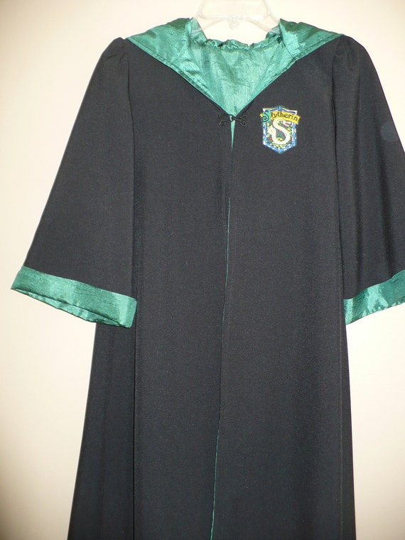 Harry Potter inspired Robe & wand, House of Slytherin (size 6-8) for Halloween or Dress Up