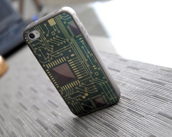 Phone case, Computer Chip Custom iPhone Silicone Case - unique iphone cases, back to school, tech lover, geekery