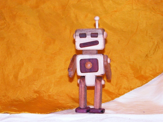 Mixed wood ROBOT toy