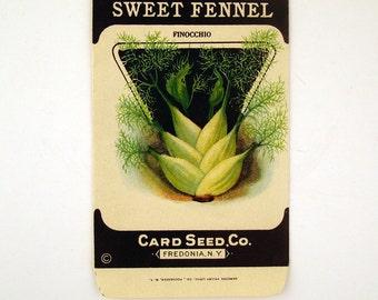 Vintage 1920s Unused Paper Seed Packet Sweet Fennel