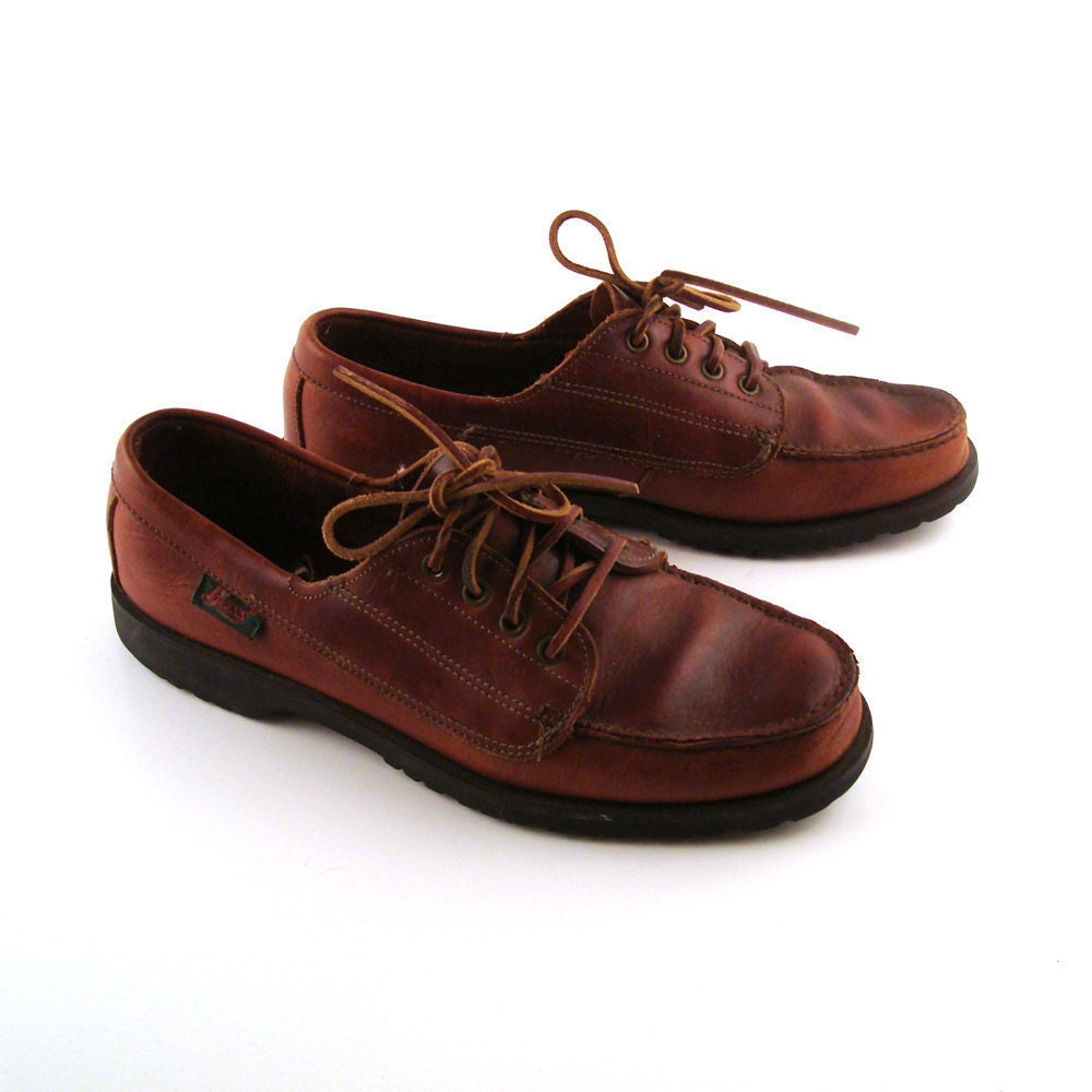 boat shoes s vintage 1980s leather bass s