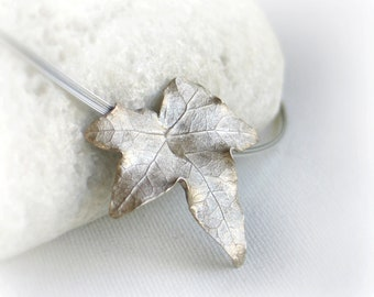 Ivy leaf Sterling Silver Pendant
