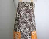 Brown and Orange Pumpkin Full Apron
