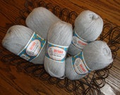 5 skeins Britania Shetland 100% pure wool gray