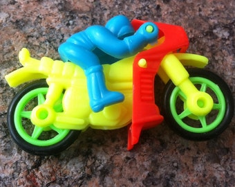 1980s Detailed Plastic Motorcycle Sports Bike Action Toy