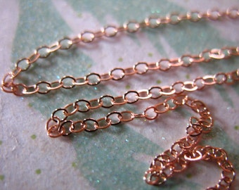 Shop Sale.. 3 feet, 14k ROSE GOLD Filled Chain, 2x1.5 mm, Bulk Flat Cable Chain, Necklace Chain, wholesale rg rgchains ssgf sgf11 solo