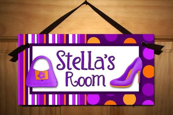 Little diva girls bedroom door sign wall art ds0190 for Signs for little girl rooms