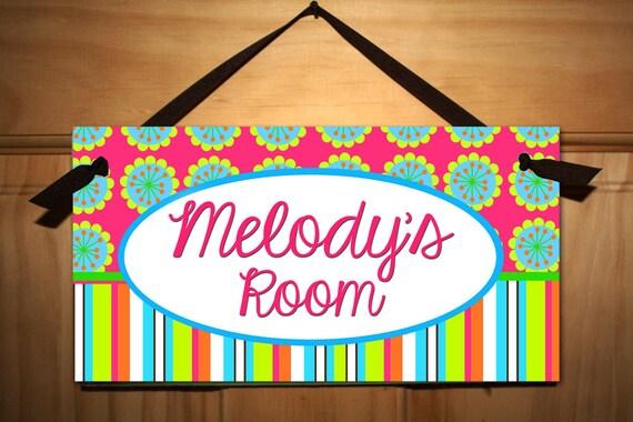 Children S Party Box Wall Art For Girl S Bedroom: Groovy Girl Teen DOOR SIGN Kids Bedroom Playroom Wall Art