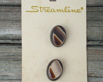 Buttons Vintage - Vintage Buttons - Brown Vintage Buttons - Buttons Vintage Brown - Streamline Buttons