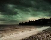 Landscape Photography Nature Photography Nova Scotia Canada Ocean Dark Green Beach Canadian Seller Metallic 8x12 PRINT- Dawn of Tomorrow