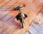 Antiques Brass Elephant Charm ADD to your DREADS Dreadlock Accessory Extension Accessories Dread Boho Bohemian Hippie Bead