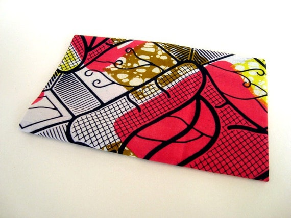 African wax print fat quarter 100% cotton (Hot Pink and yellow)