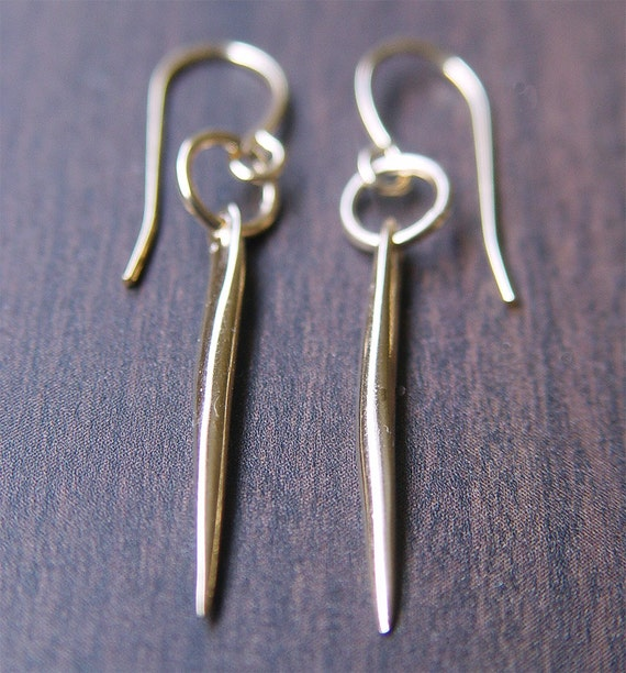 Delicate Spike Gold Earrings