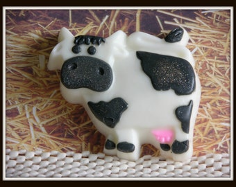 COW SOAP - Holstein Cow Soap - Farm Animal - Kids Soap - Decorative Soap - Handmade Cow Soap - Detergent Free Glycerin Soap - Made In USA