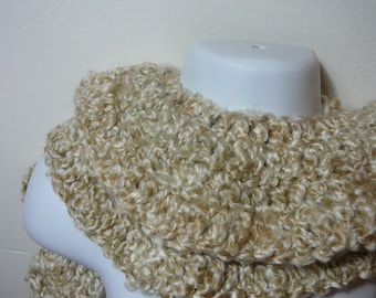 Ruffled Crocheted Scarf     READY TO SHIP     One Size