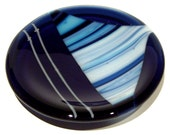 Fused Glass Mini Dish in Shades of Blue