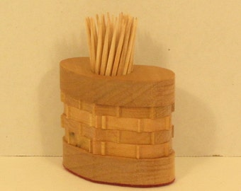 Toothpick Holder Heart Shaped Handmade