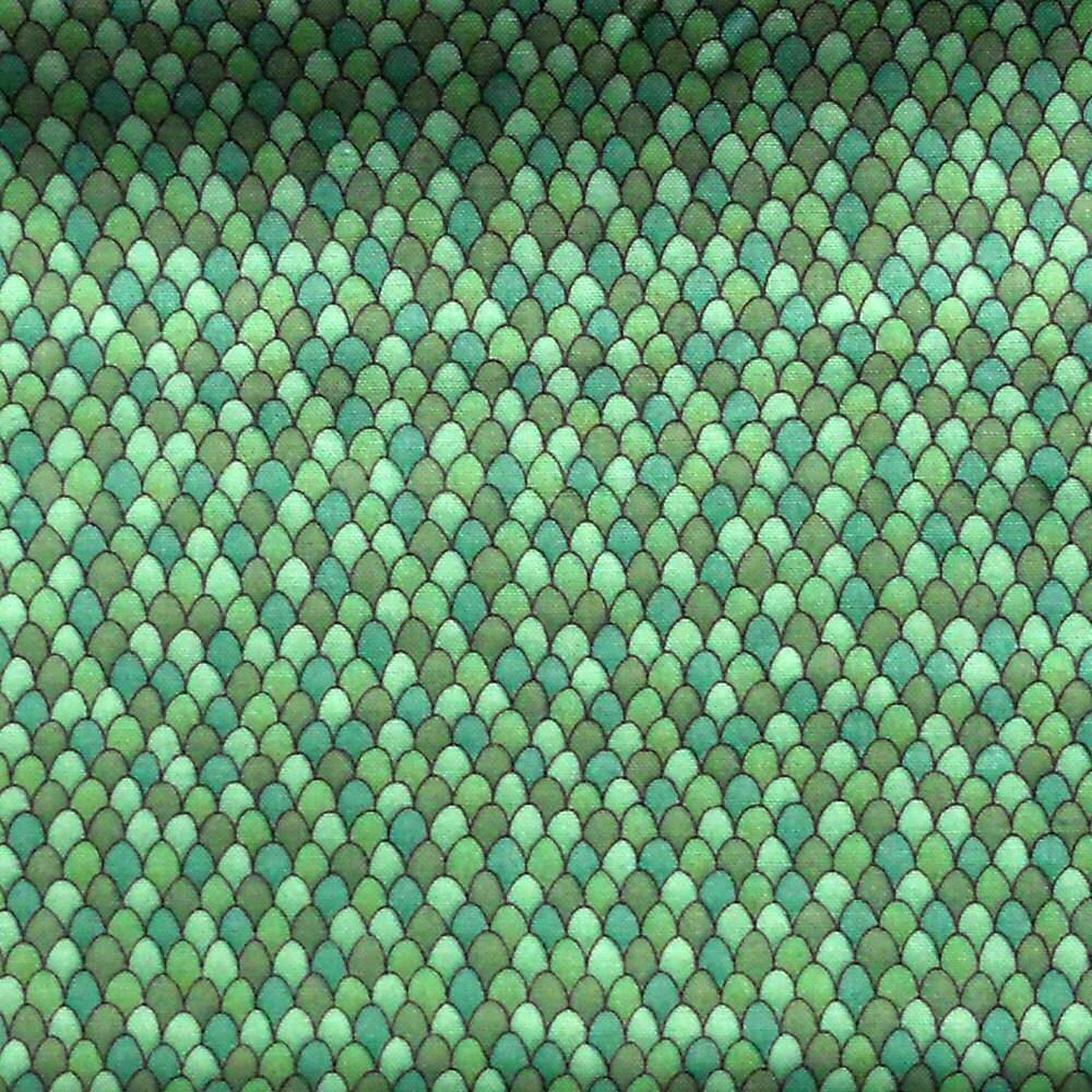 Destash Dragon Scales 1 Yard Multi Green Fabric