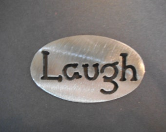 LAUGH MAGNET- Cute and Fun , gift  inspriational holds 5lbs  Fridge Locker Steel door Decorative useful small gift item