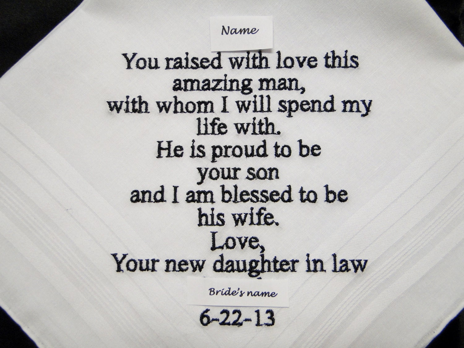Bride Gift Father Of The Sayings: Personalized Father Of The Groom From Bride Embroidered