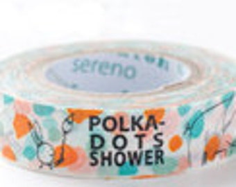 Shinzi Katoh Masking Tape - Polka Dot Shower - Discontinued