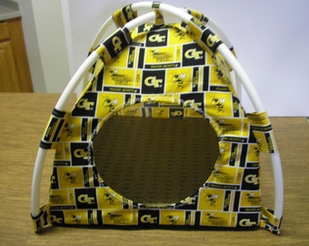 Large Handmade College Georgia Tech Pup Tent Pet Bed for cats/ dogs/ferrets/ piggies/ A Toy Box / Barbie Doll House