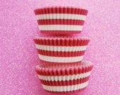 Pink Bold Striped Cupcake Liners Standard Size 50 per pack