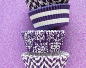 Assorted Purple & White Cupcake Liners Standard Size 40 per pack