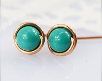 6mm - Sophine ear studs - Turquoise (SS6)
