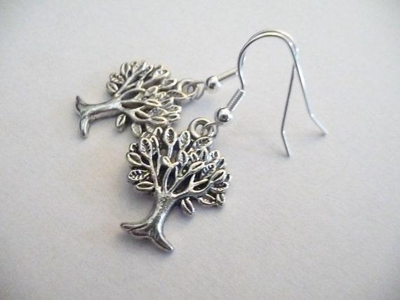 Tibetan silver  tree charms