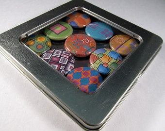 Retro Design Magnets 3 / Refrigerator Magnets / Locker Magnets / Ready for Gift Giving