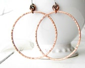 SALE 50 PERC.OFF Big copper and silver dangly hoops