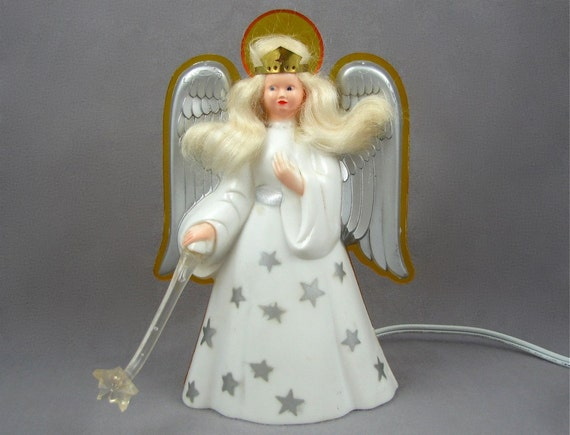 View From The Top Vintage Noma Light Up Angel Tree Topper Or
