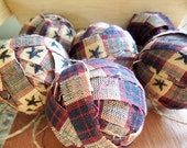 Homespun Rag Balls Set of Six OFG Team