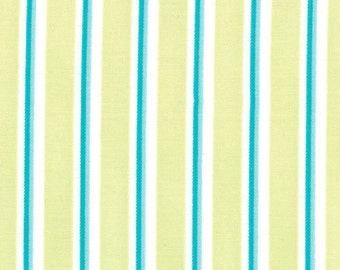Grow with me Green and Turquoise Blue Stripes by Moda