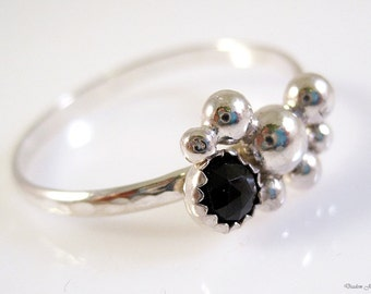 Fine and Sterling Silver Organic Bubble Ring
