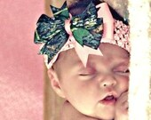 Pink New MOSSY OAK Break Up Camo Bow Stretch Headband