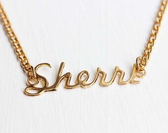 Name Necklace - Sherri