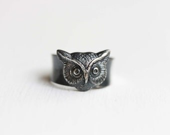 Owl Ring Silver