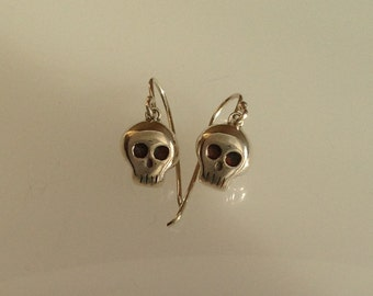 Lethe Skull Dangle Earrings
